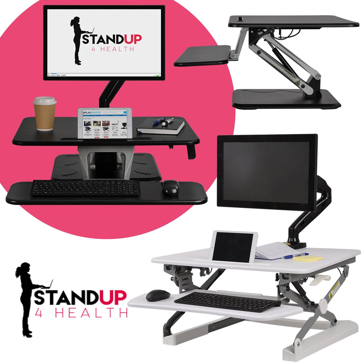 The health benefits of having a Sit-Stand up desk are endless but here are just a few:  1. Alleviate back pain 2. Increase blood flow 3. Burn calories 4. Increase energy and productivity levels 5. Improve posture  Get yours today! https://t.co/sMOtIyOHJp https://t.co/j9kN6mJyN9