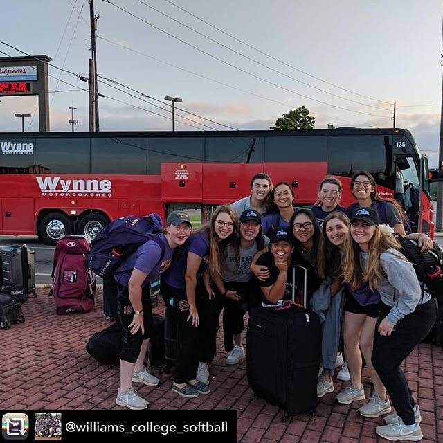 Repost from @williams_college_softball using @RepostRegramApp - On our way home from the #notworldseries National Championship.  What a run.  #redbusdeadbus #stillsmilingthough