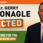 Image for the Tweet beginning: ELECTED: Cllr Gerry McMonagle is