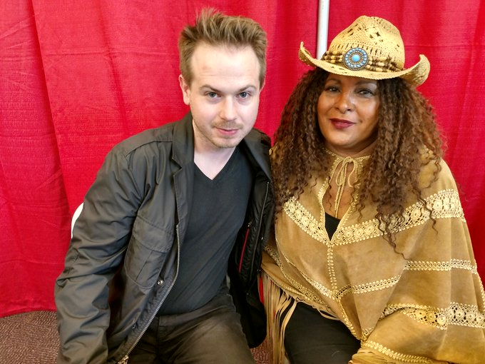 Happy birthday, Pam Grier! Photo of us from last year in LA: