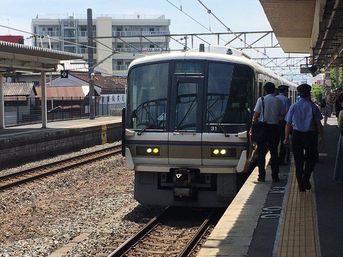 大和路線の郡山駅で人身事故の現場画像