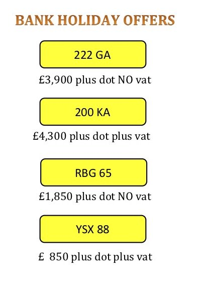 Bank Holiday #Special #offers # bargain #number #plates for more #reg #marks http://www.registrationmarks.co.uk  #exclusive #reg #mark for #sale #offers considered