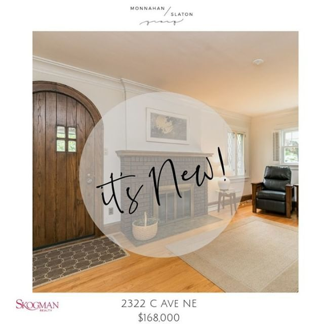 Cutest Cottage on the NE Side! 2322 C Ave NE - $168,000 -  http://bit.ly/2X0a6U0 . . . . . #skogmanknows #cottageliving #liveyourbestlife #liveyourbestlifehere #monnahanslatongroup #buywithjillandjacey #sellwiththemonnahanslatongroup #sellwithjillandjacey #buywithmonnahanslat…