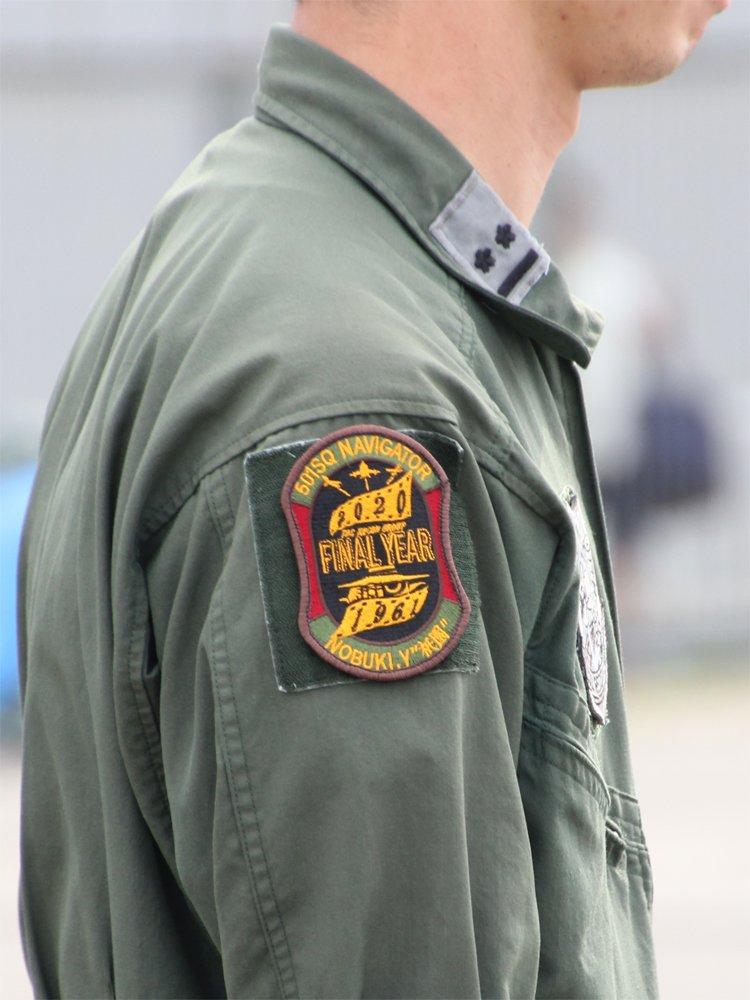 浜松基地広報館エアパーク RF-4E(905号機) 洋上スペマ展示の模様3[要点]・FINAL YEAR ワッペン・帯はカメラフィルムの意匠・帯色は災害派遣でも失礼の無い落ち着いた色に(必然)・1961年発足時のRF-86シルエット・フィルムからデジタルへ歴史の儚さ・焼き芋タンクは認める#501SQ#RF4E