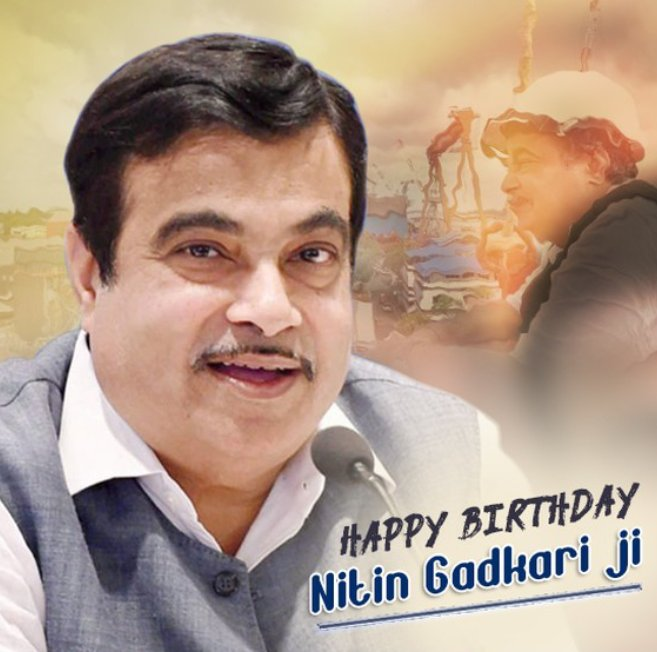 Happy birthday Nitin Gadkari ji Wishing your good Health.