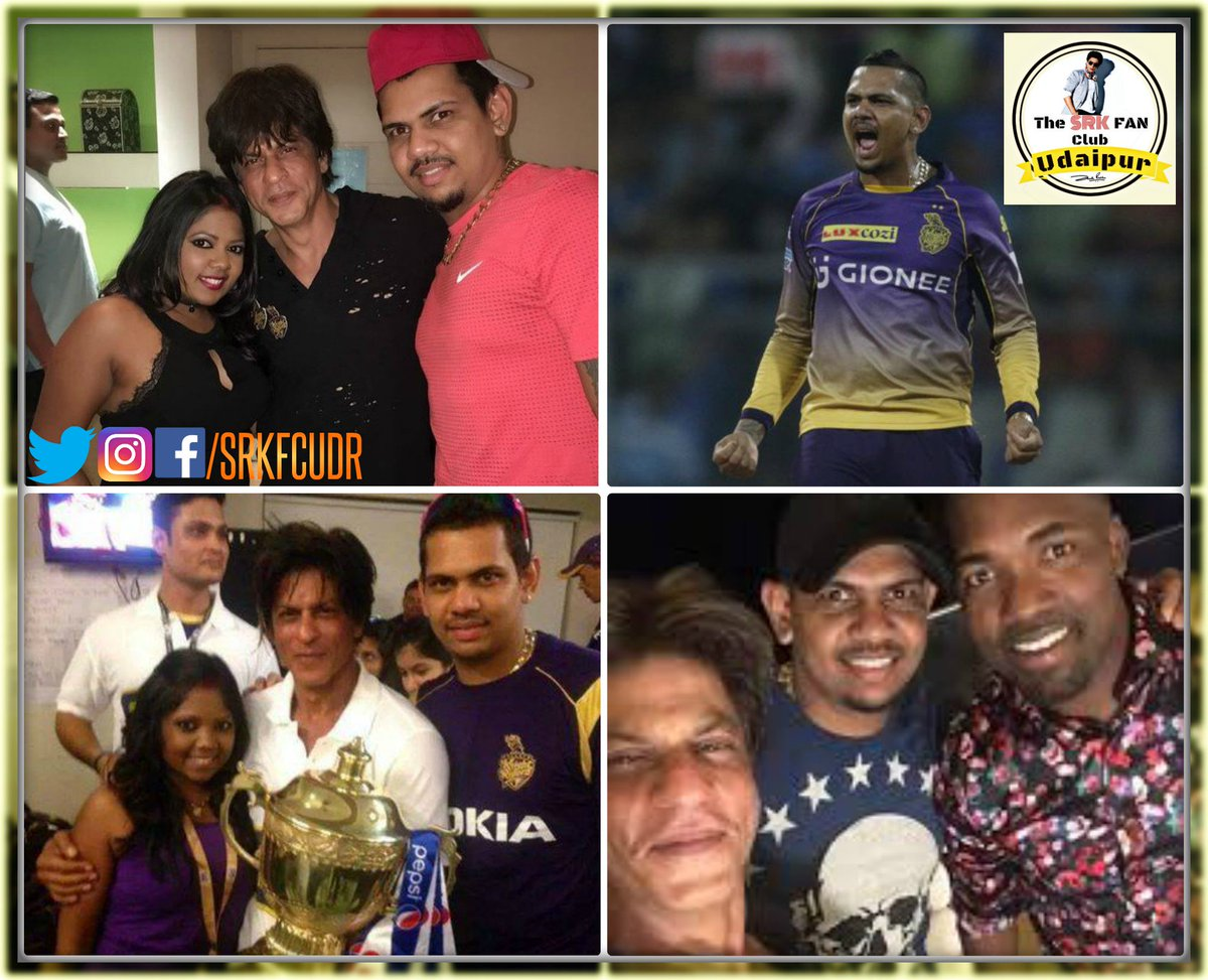"""The King of Spin @SunilPNarine74 ,  Wishing You a Very Happy Birthday   Best Wishes From """"SRK FAN CLUB UDAIPUR"""" """"Knight Since 2012 @KKRiders @TKRiders @VenkyMysore @RedChilliesEnt #HappyBirthdaySunilNarine <br>http://pic.twitter.com/p51PlAnycw"""