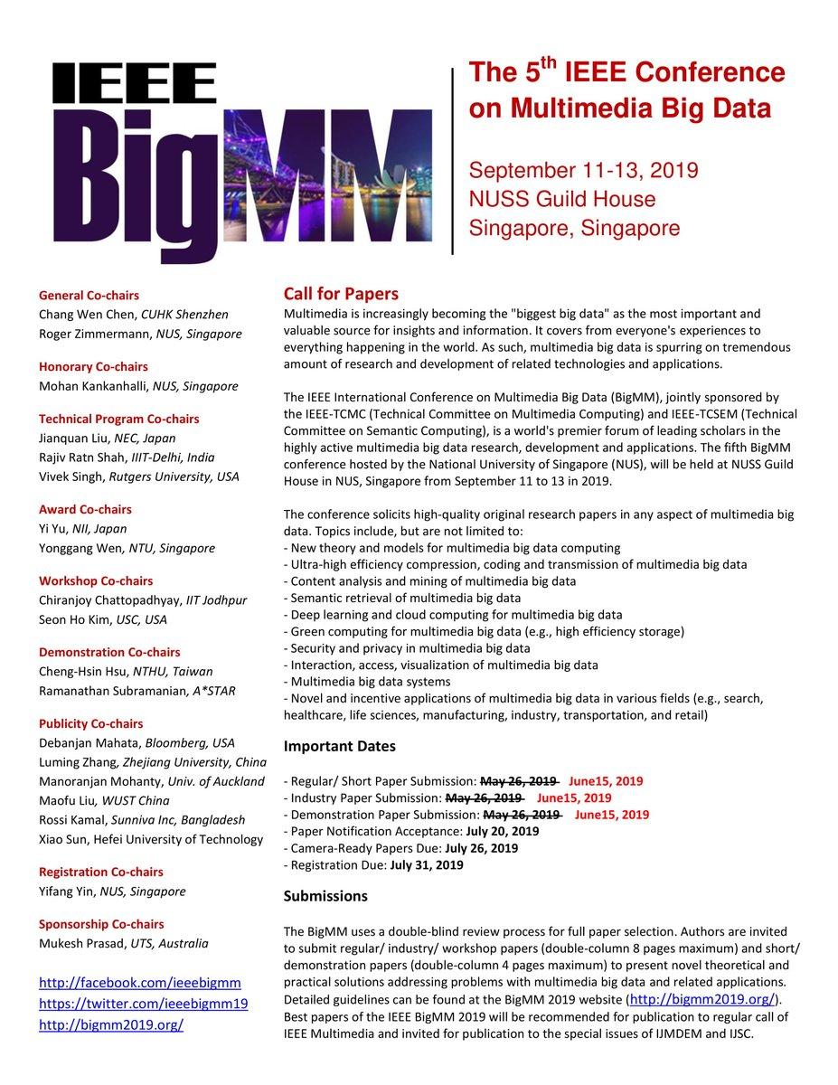 IEEE BigMM 2019 (@IEEEBigMM19) | Twitter