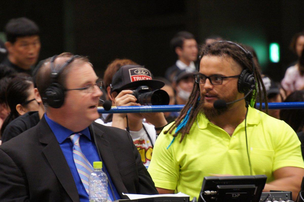 昨日の幕張で 挑戦者がわかった と解説を突然離れる直前のジュース WWE引退であるかも?!とも思ったけど繋がってなかった😵💦あのジーンズ姿!!  誰であろうと ジュースが防衛🙏🙏🙏  https://twitter.com/JonMoxley/status/1132868564132741120?s=19…  #ジュースロビンソン  #JuiceRobinson #IWGPUS #Lifeblood #njbosj  #njpw