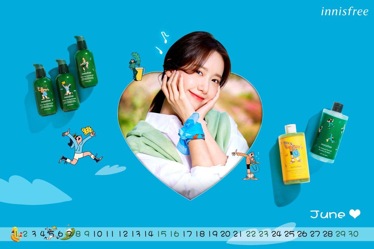 2604x1732] YoonA Innisfree June 2019 Calendar Tweet added by