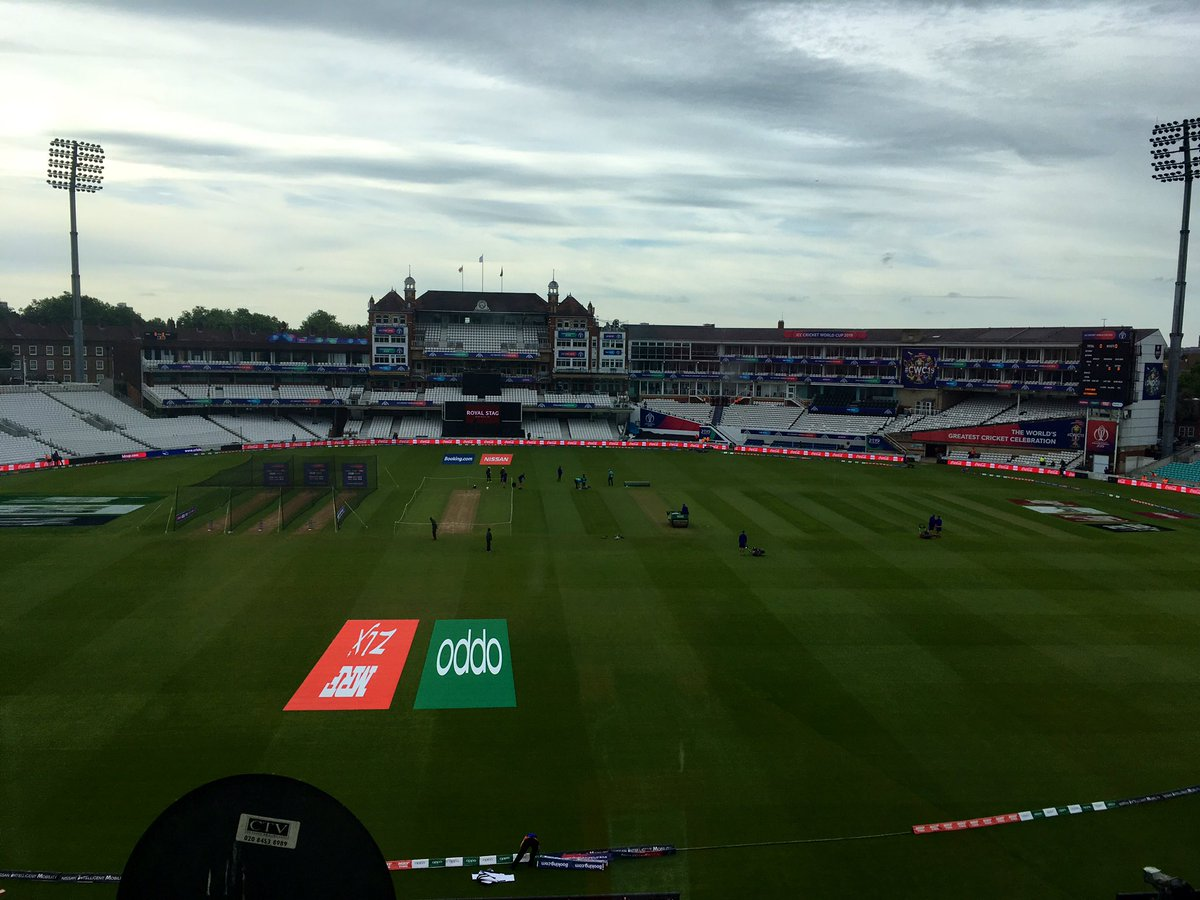 Good morning from the Oval. Overcast, but forecast good for the day. England's last warm-up today before the @cricketworldcup begins for real on Thursday. Commentary on @englandcricket v @ACBofficials from 1015 @5liveSport. #bbccricket #CWC19