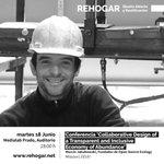 Image for the Tweet beginning: 18 Junio > Conferencia 'Diseño