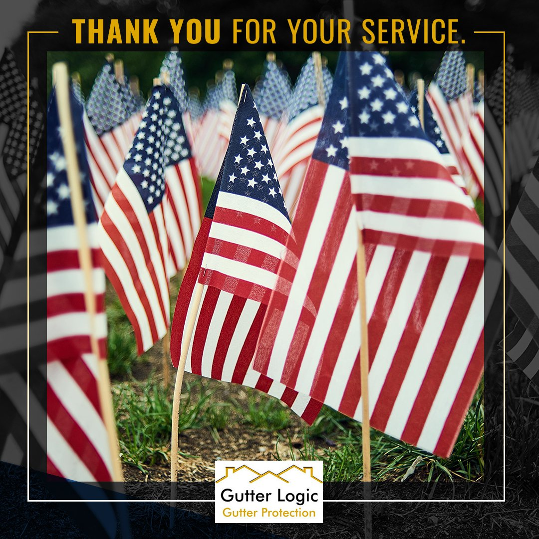 Happy Memorial Day from all of us @GutterLogic! We want to thank the brave men and women who have laid down their lives for this great country. Thank you for your service.