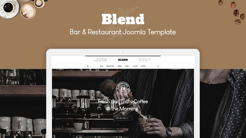 53251facc ... fresh Restaurant Joomla template built for the bar, cafe, bistro,  drinks, restaurant and all other foodies websites. #joomla #restaurant  #cafe #bar #pub ...