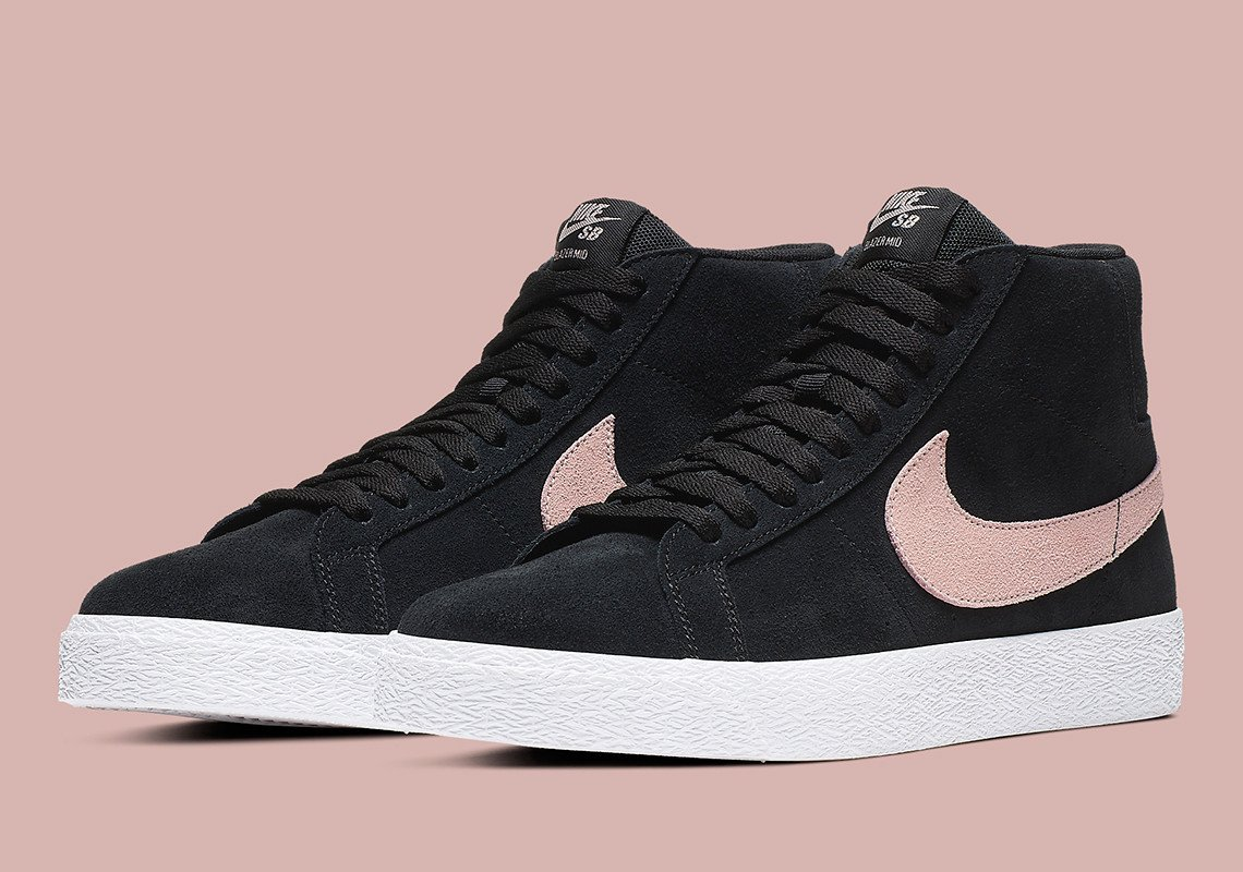 """6e5fd69b04 #Nike SB Blazer Mid """"Washed Coral"""" Color: Black/White/Washed Coral Style  Code: 864349-004 Price: $85 #sneakersbot http://bit.ly/sneakersnew  pic.twitter.com/ ..."""