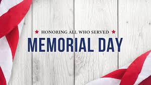 Happy Memorial Day! Don't forget we are closed today but will open back up for our normal hours tomorrow!