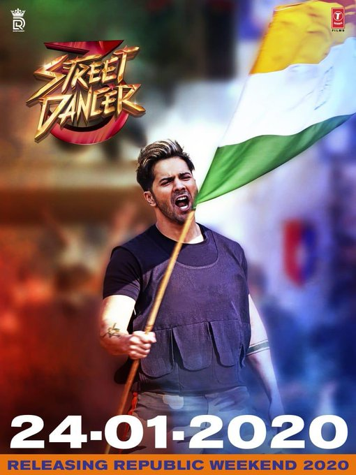#StreetDancer3D now coming on the 24th of Jan 2020! #RepublicDayWeekend! 💃🏻 💖 https://t.co/OJEhldfy2