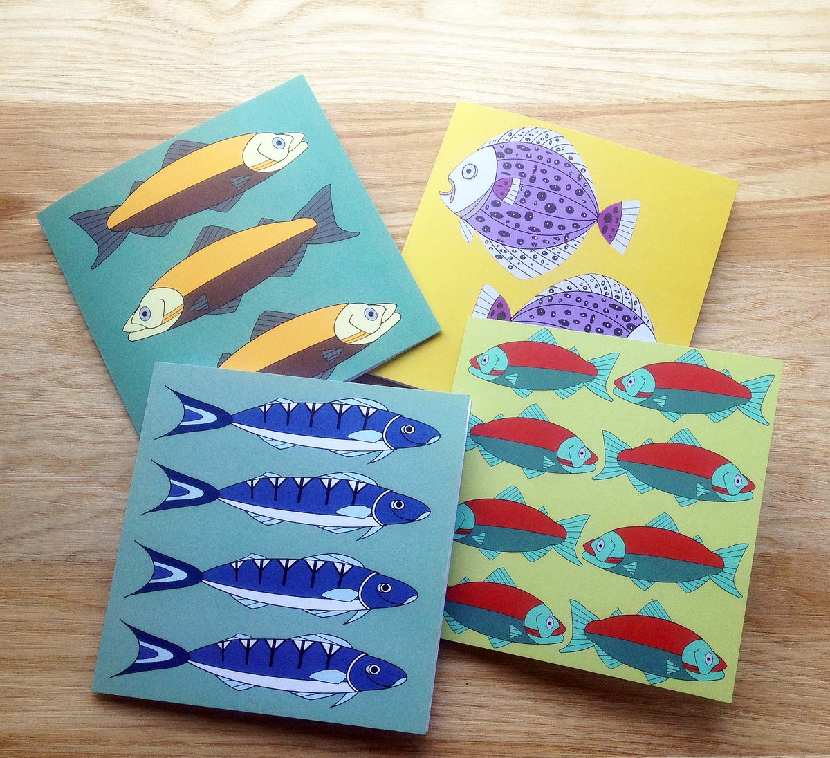FathersDay CraftBizParty Elevenseshour RTmeBB Greetingcards Shopindie Smallbiz Cats Birds Fish Stationery