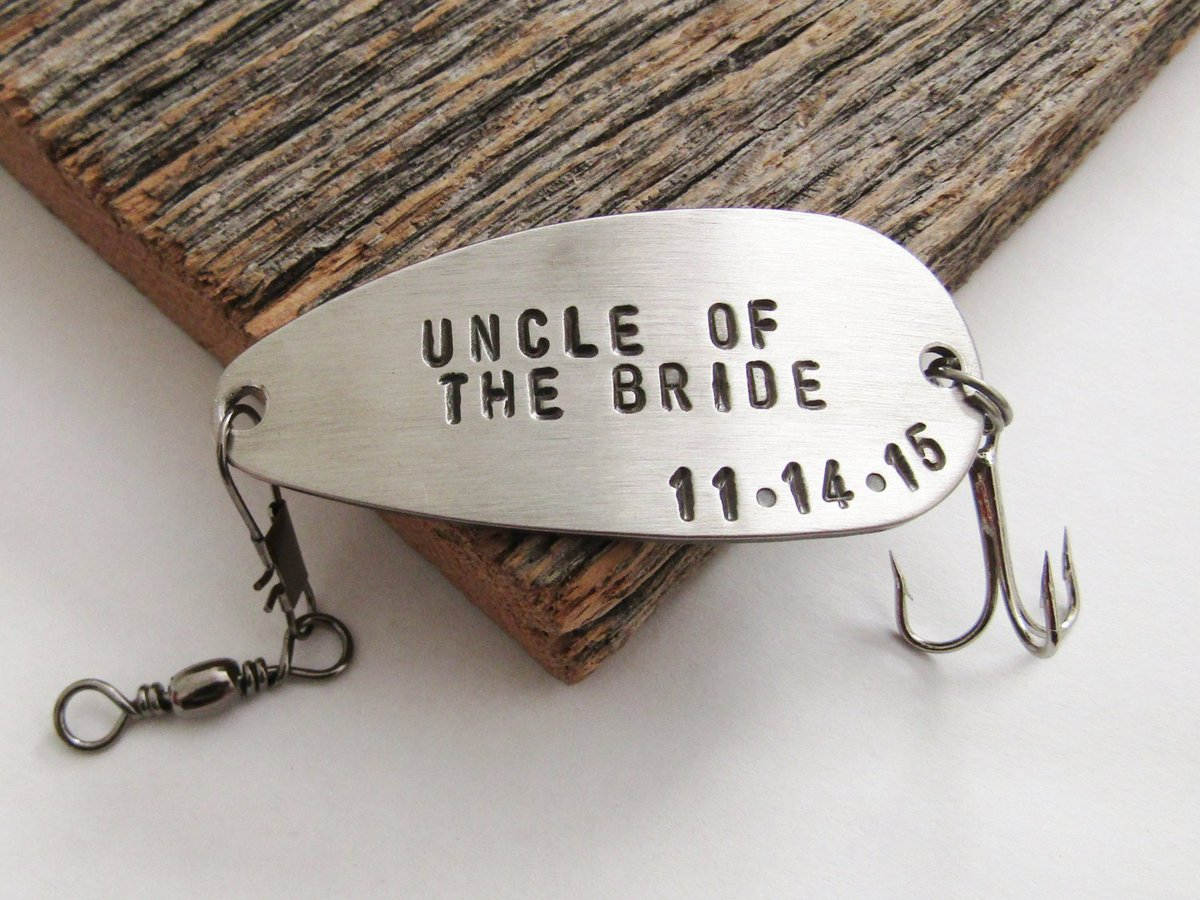 Uncle of the Bride Fishing Lure Personalized Uncle Gift Wedding Day for Uncle Bride Gift Custom Uncle of the Groom Engraved Uncle Gift Idea http://tuppu.net/16bafa2e  #Shopify #CandTCustomLures #Uncle_bride_gift