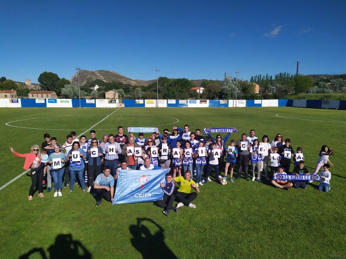 Foto del Alhama para agradecer el gesto del Celta (Foto: UDA).