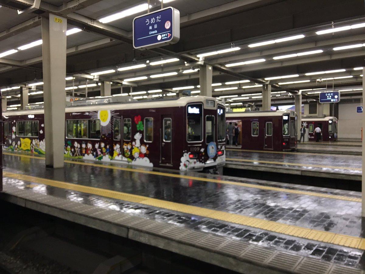 予備校帰りにSDGsトレイン見れました。エコトレインがなんとなく記憶の片隅にあるので、どこか懐かしい…#阪急