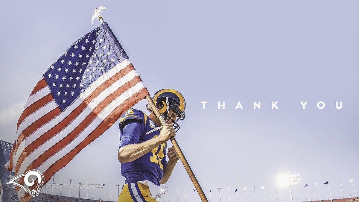 Thank you to all that served and sacrificed! #MemorialDay #ThankYou! #RamsEmpiresalutesyou!! 👊🏼💥🤘🏼