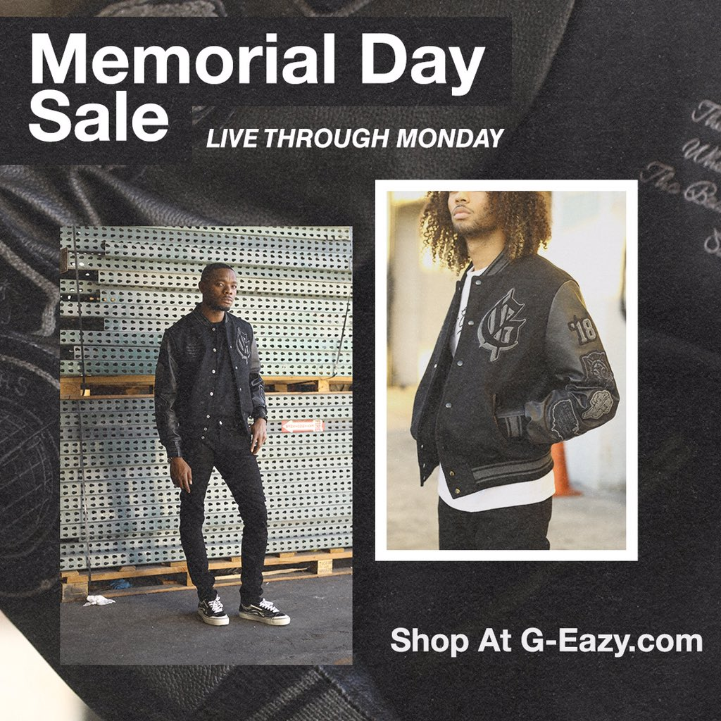 Memorial Day Sale live through midnight, cop while you can 💸 g-eazystore.com
