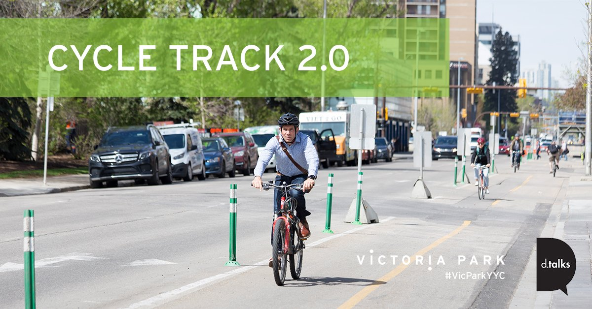 Join us June 6 at @HotelArtsYYC for Cycle Track 2.0! Our panel will explore what obstacles the cycle track overcame & where we go from here. We have an amazing guest panel lined up: http://bit.ly/2K33gt9  #VicParkyyc #dtalksmove #yycbike #yyc
