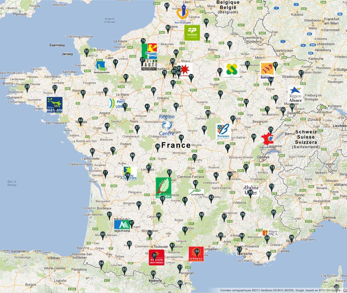carte des chateaux de france Marielle J.PdeG on Twitter: