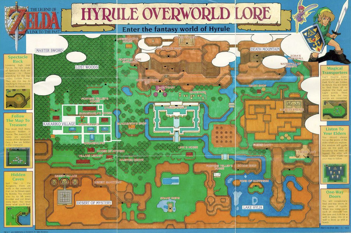 Zelda Universe On Twitter The Map Poster That Came With