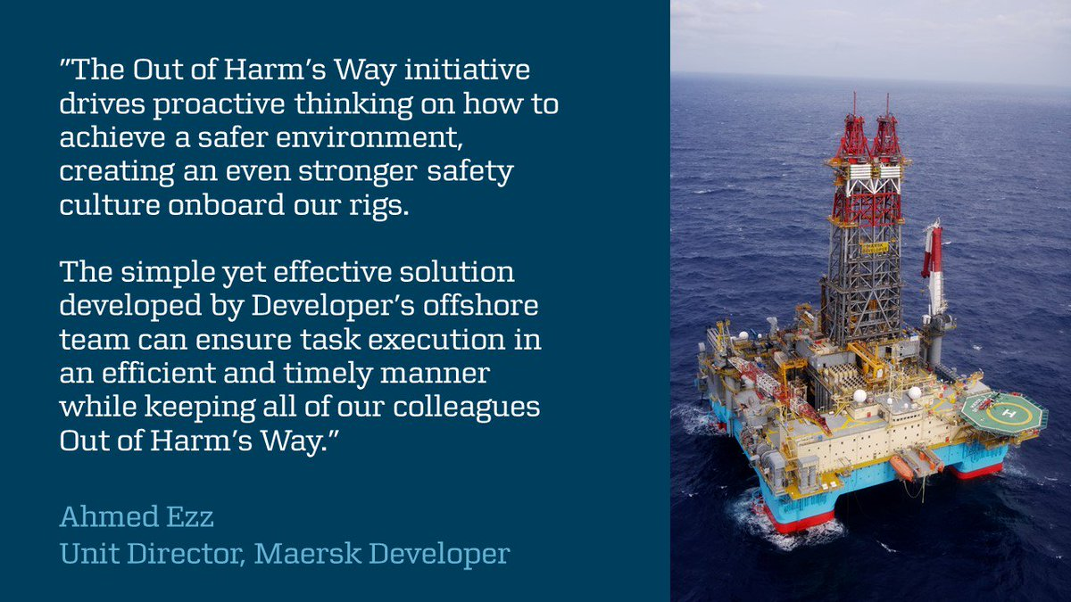 #MaerskDeveloper won one of #MaerskDrilling's Out of Harm's Way Awards for their innovative #safety approach to annular cap support. #OurPeople have designed and fabricated heavy duty support to eliminate manual handling of heavy weights. Congrats #TeamDeveloper #SafetyasCapacity