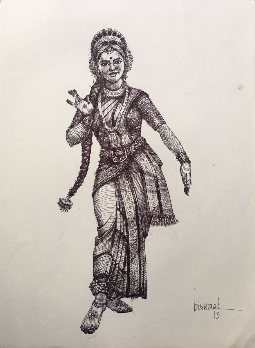ह न द ह हम वतन ह ह न द स त न हम र Auf Twitter Yup This Is Kuchipudi Perfectly Drawn Superb Kuchipudi Is One Of My Favourite Classical Dance After Odissi Manipuri Draw A Beautiful Manipuri Dancer