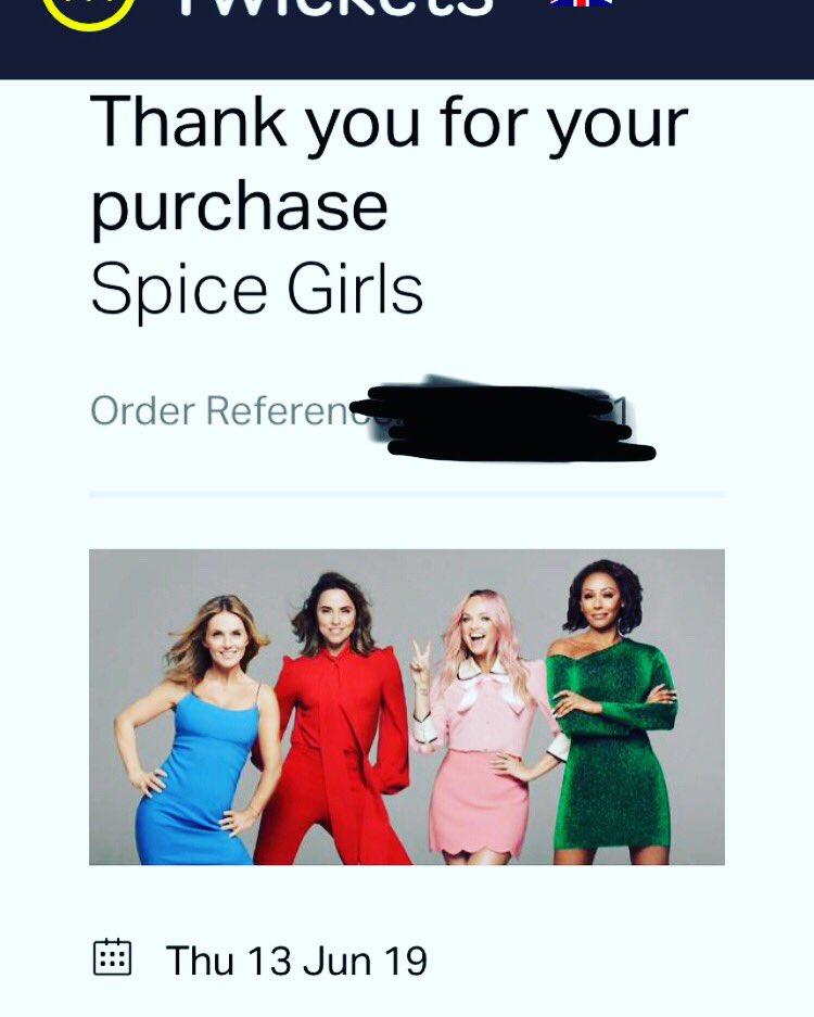 IM GOING TO SEE SPICE GIRLS #NERNER #MEWINNING #SpiceWorld2019 #SPICEGIRLSREUNIONTOUR https://t.co/u4MSvQgBbs