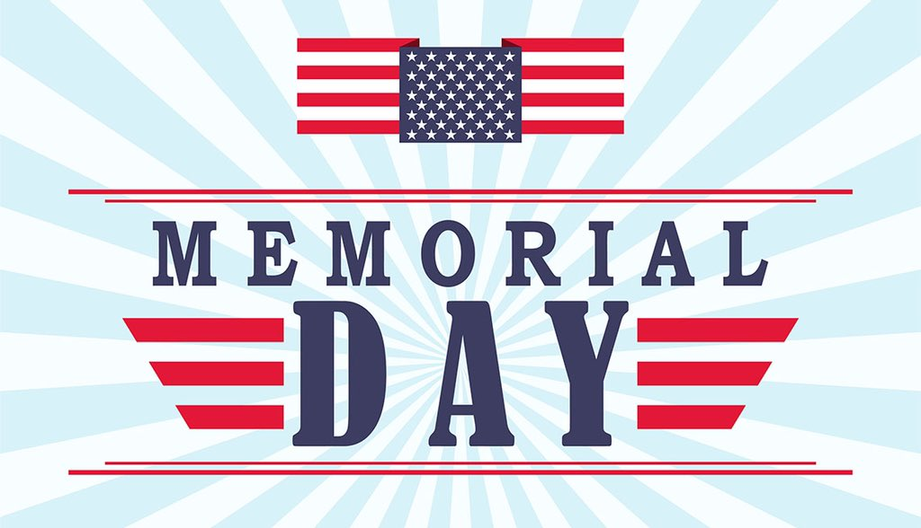 All locations of Cloud are closed Monday, May 27 for Memorial Day.