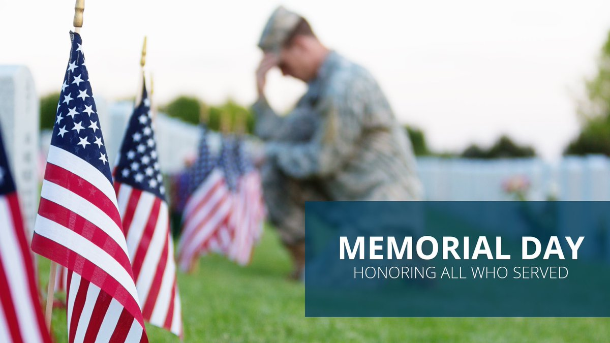 Today, we honor all the brave men and women that paid the ultimate sacrifice in the name of hope and freedom. We will never forget!  #MemorialDay2019