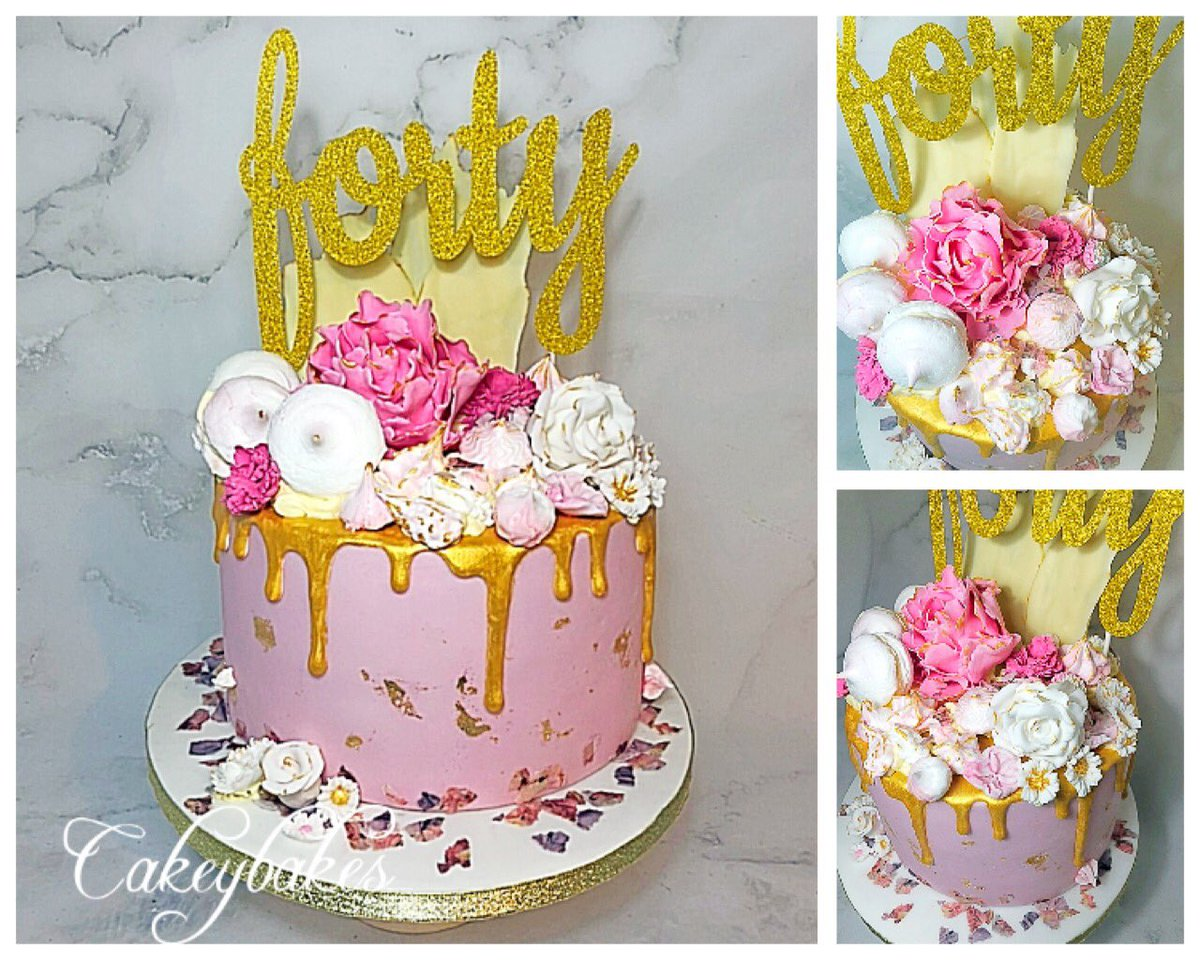 Pleasant Cakeybakes Pa Twitter Pink Gold Drip Cake For Alexs Fabulous Personalised Birthday Cards Cominlily Jamesorg