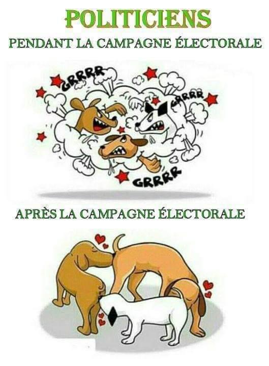 Resultado de imagen de politiciens pendant la campagne electorale apres