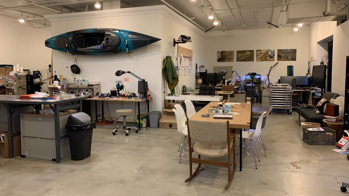 The @conservify lab has been such a inspiring space lately: seeing all the hard work on @FieldKitOrg by the team, collaborators like @conservationx and others visiting, and lots of interesting conservation technology opportunities for 2019-2020 shaping up.