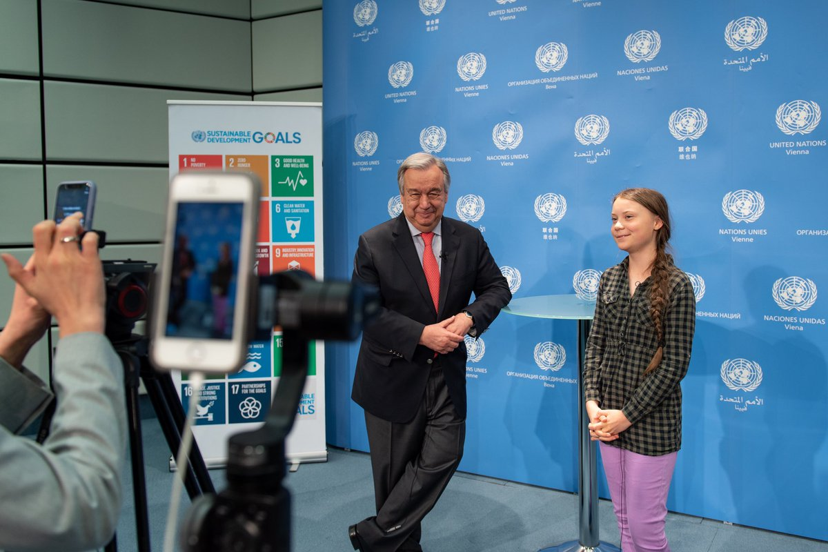 Young people like @GretaThunberg are driving transformative #ClimateAction around the world. They must keep up the pressure on their leaders to save our planet and our future.