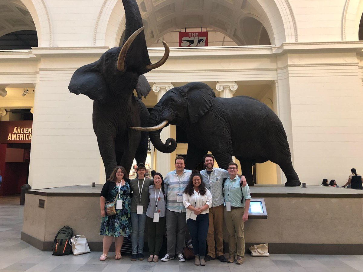 #SPNHC2019 has already been a blast! Enjoying the workshops, @FieldMuseum, and exploring Chicago with great friends!