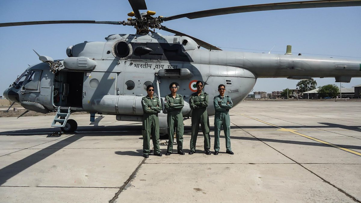 In a first, all woman crew of IAF fly MI-17 V5 chopper for battle inoculation in Gujarat