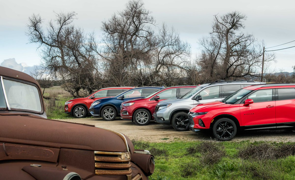 Car And Driver On Twitter We Compare Five Mid Size Crossover Suvs Including The Ford Edge The Hyundai Santa Fe The Nissan Murano The Honda Passport And The Chevrolet Blazer Https T Co Mma4vvjcuv Https T Co Yraehf8yfc