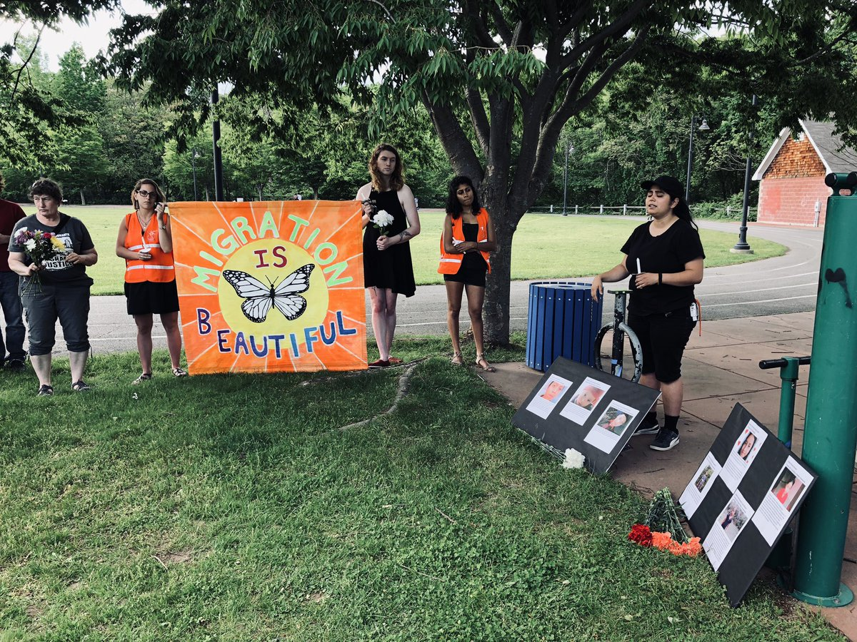 .@amornetwork memorializing the chiledren who have died in ICE custody. Six young people seeking refuge were met with negligence and brutality. @UpriseRI