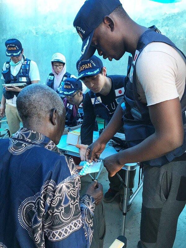3/28~4/10に国際緊急援助隊(JDR)医療チームとして #モザンビーク に派遣された(医)臼井会田野病院の斉藤忠男さん(薬剤師)が、関係者を対象に報告会を開催。現地で開設した野外医療診療所で毎日50~70名の患者さんを対応する中で、さまざまな工夫をされたそうです。
