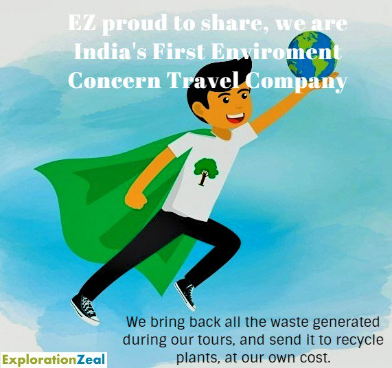 EZ very proudly share, that we India's first environment concern Travel company.  #explorationzeal #chardham2019 #dodham2019 #badrinath #kedarnath #gangotri #yamunotri #uttarakhand #rishikesh #spritual #sadguru #isha #chardhamyatra #enviromentconcert #EZConcern