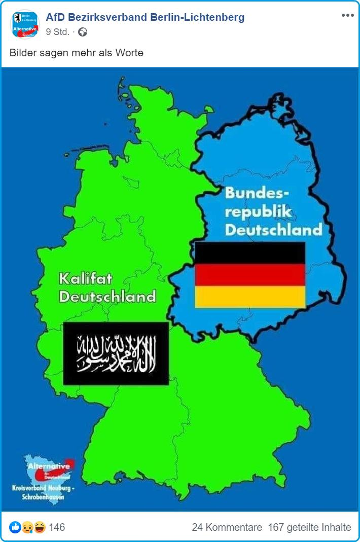 Map Of West Germany.Afd Issues Map Of West Germany As Saudi Caliphate Mina Report