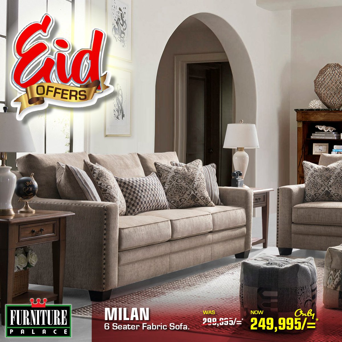 """Furniture Palace Ltd On Twitter: """"Milan Fabric Sofa At A Special Price And Sitting Here Waiting For You To Get It! #eidmubarak #dontwaitbuynow #dealspoa #furniturepalacekenya #fphotbuys #milan #ramadhanmubarak #ramadhanspecial #ramadhanoffer… Https://t ..."""