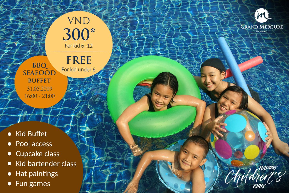 🌈 CELEBRATES #ChildrensDay2019 BBQ BUFFET  ➡ From 4pm to 9pm on Friday, 31st May 2019  🌟 On this special day, we will take special care to your kids with many fun activities. 🎉 BBQ Seafood Buffet for parents include Free flow of beer, soft drinks and water at 600.000VND++ https://t.co/SKZVjeldhZ
