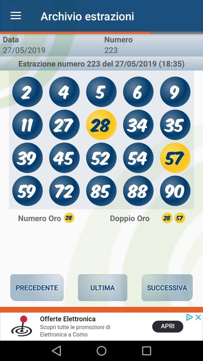 Archivio estrazioni del lotto 2019