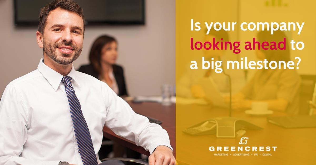 Is your company looking to celebrate a big milestone such as a 50th, 100th, or 150th anniversary? GREENCREST knows how to garner attention for such moments in time:  http:// ow.ly/HD8H50tV2Q6     #marketingagency #PRagency #mediacoverage #mediarelations #businessmilestones #familybiz<br>http://pic.twitter.com/Ik8ZsVMz1Q