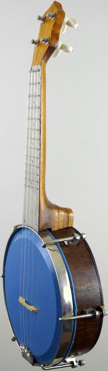 Soprano ukulele banjo with decorated resonator